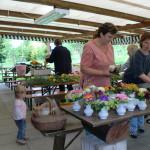 Blumenschmuck Gartenfest